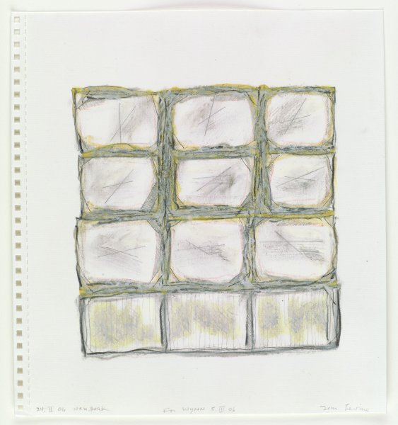 Grid of twelve white squares with gray and yellow edges.