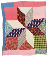 Large star quilt.