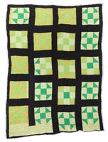 Unnamed pattern in green and yellow.