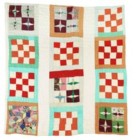 Mixed blocks and stars quilt.