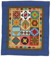 Sampler quilt, quilted by Robert T. Cargo
