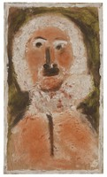 George Washington, Father of the Country, Jimmy Lee Sudduth, paint and mud on wood board