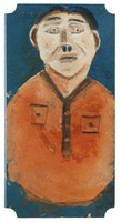 President Reagan, Jimmy Lee Sudduth, paint and mud on wood board