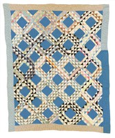 Ocean Waves quilt, probably by AA
