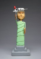 Statue of Liberty, Carolyn Hall, painted wood