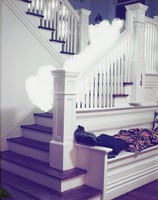 Cloud coming down the stairs