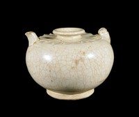 Small ewer with carved lotus-petal collar.