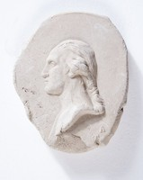 Cast from mold with profile portrait of George Washington
