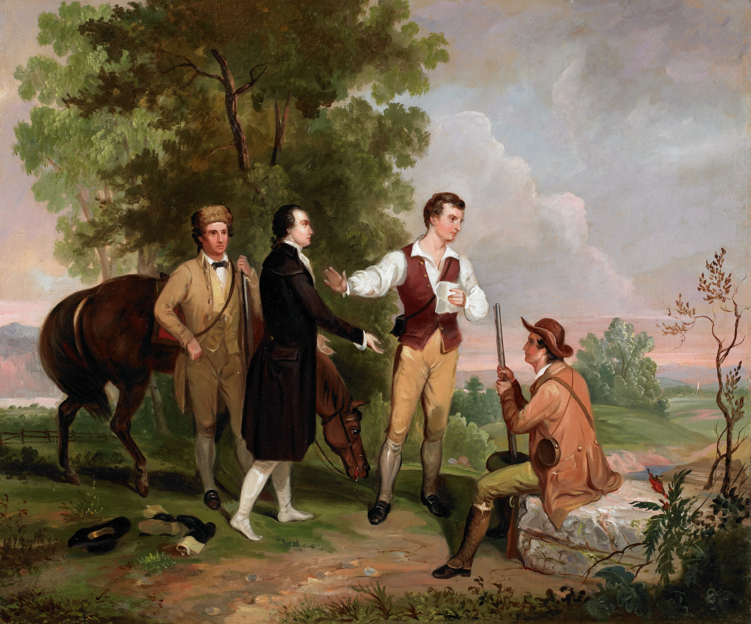 The Capture of Major André, Asher Brown Durand, oil on canvas