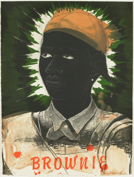 Brownie, Kerry James Marshall, Published in collaboration with Anchor Graphics, Printed by David Jones, six-color lithograph