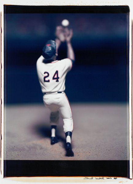 """Untitled, from the series """"Baseball"""" [Willie Mays], David Levinthal, Polaroid (Polacolor ER Land Film print)"""