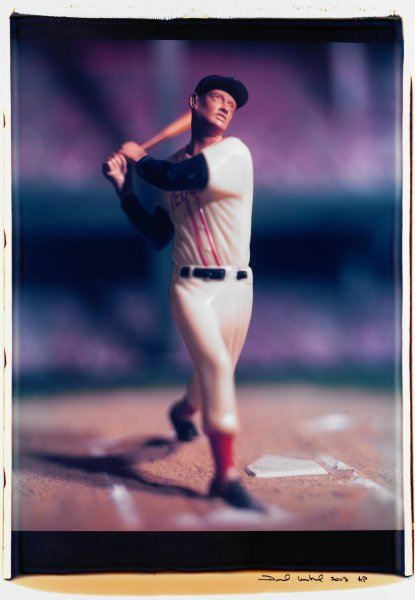 """Untitled, from the series """"Baseball"""" [Ted Williams], David Levinthal, Polaroid (Polacolor ER Land Film print)"""