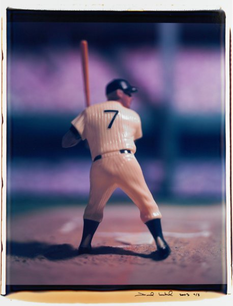 """Untitled, from the series """"Baseball"""" [Mickey Mantle], David Levinthal, Polaroid (Polacolor ER Land Film print)"""
