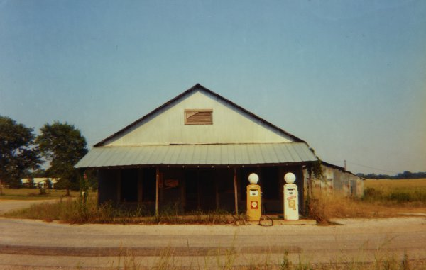 Country Store with Gasoline Pumps, Emelle, Alabama, 1974, William Christenberry, chromogenic print