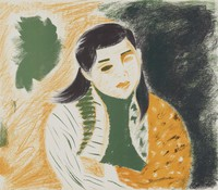 Portrait of a Girl, Jim Brustlein, lithograph on Arches paper