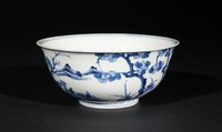 Bowl with landscape on exterior