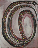 Snake, Jimmy Lee Sudduth, latex and oil paint and mud on board