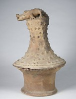 Incensario with Alligator on Lid, Nicoya culture, Pre-Columbian, fired clay