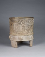 Tripod Vessel, Teotihuacan culture, Pre-Columbian, fired clay and slip
