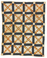 """Quilt, """"Wild Goose Chase"""" pattern, Mary Ann Rouse Thomas, cotton"""