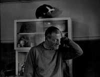 Lee Neugent and Cat, David Spear, gelatin silver print
