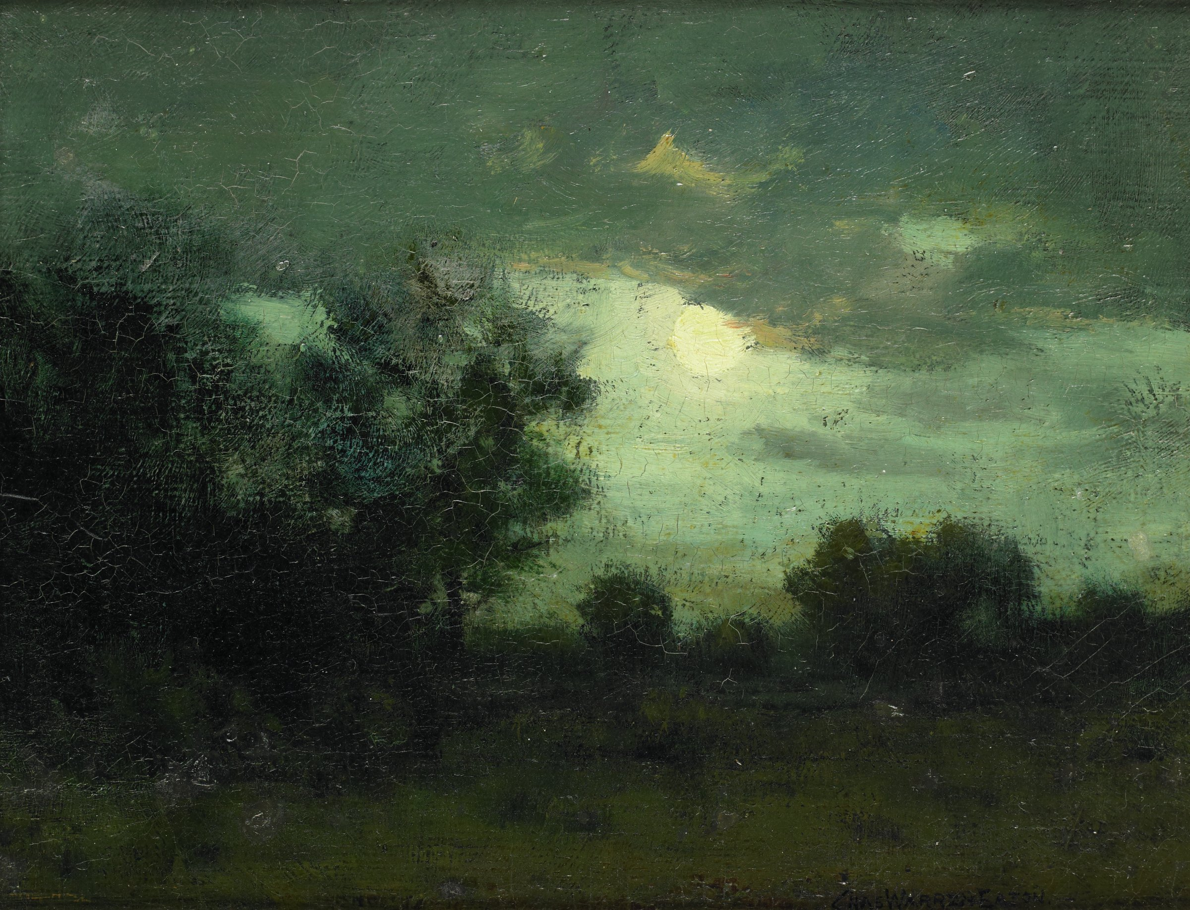 Moon over the Forest, Charles Warren Eaton, oil on board