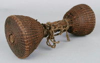 Rattle, Democratic Republic of the Congo, African, fiber, string, seed pods