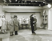 Lucille Ball, Desi Arnaz & William Frawley on the Set of I LOVE LUCY, Sid Avery, gelatin silver print