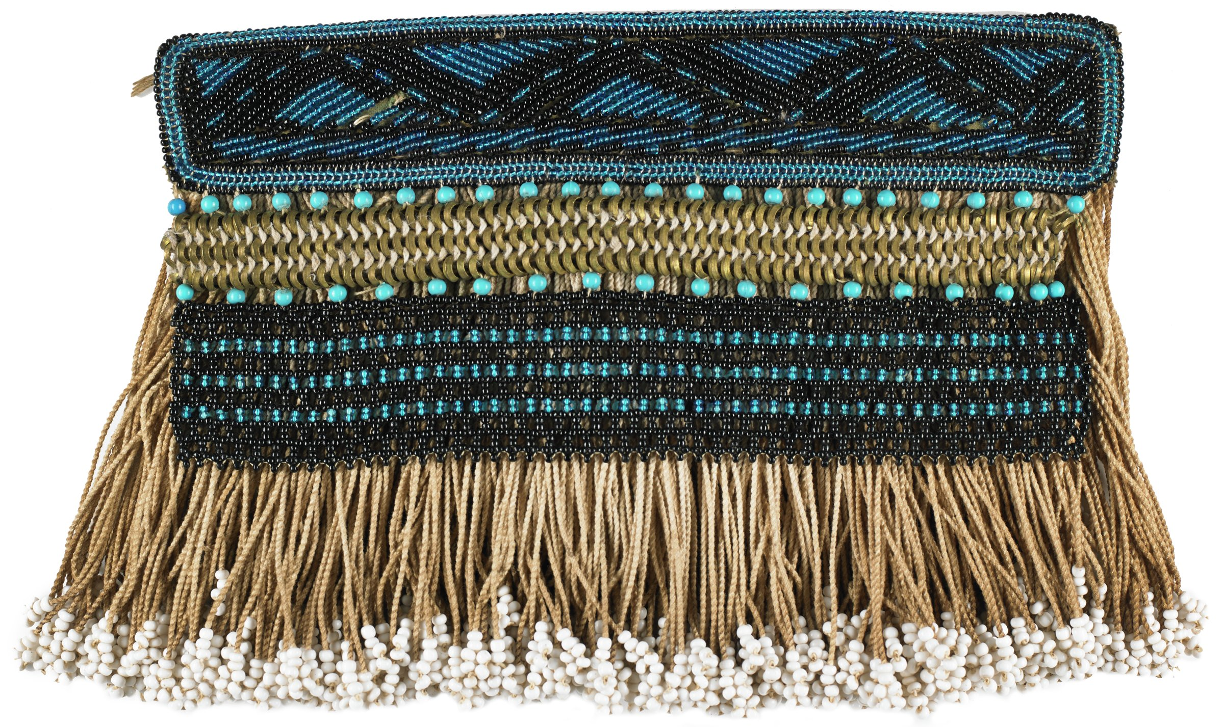 Child's Apron (gabi), Ndebele people, South Africa, African, glass beads, textile, string, commercial hosiery