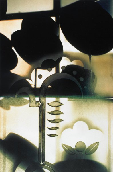 Untitled (Hats in Window) Rome, 1988, Ralph Gibson, Portfolio published by Double Elephant Editions, Ltd., Type C color print