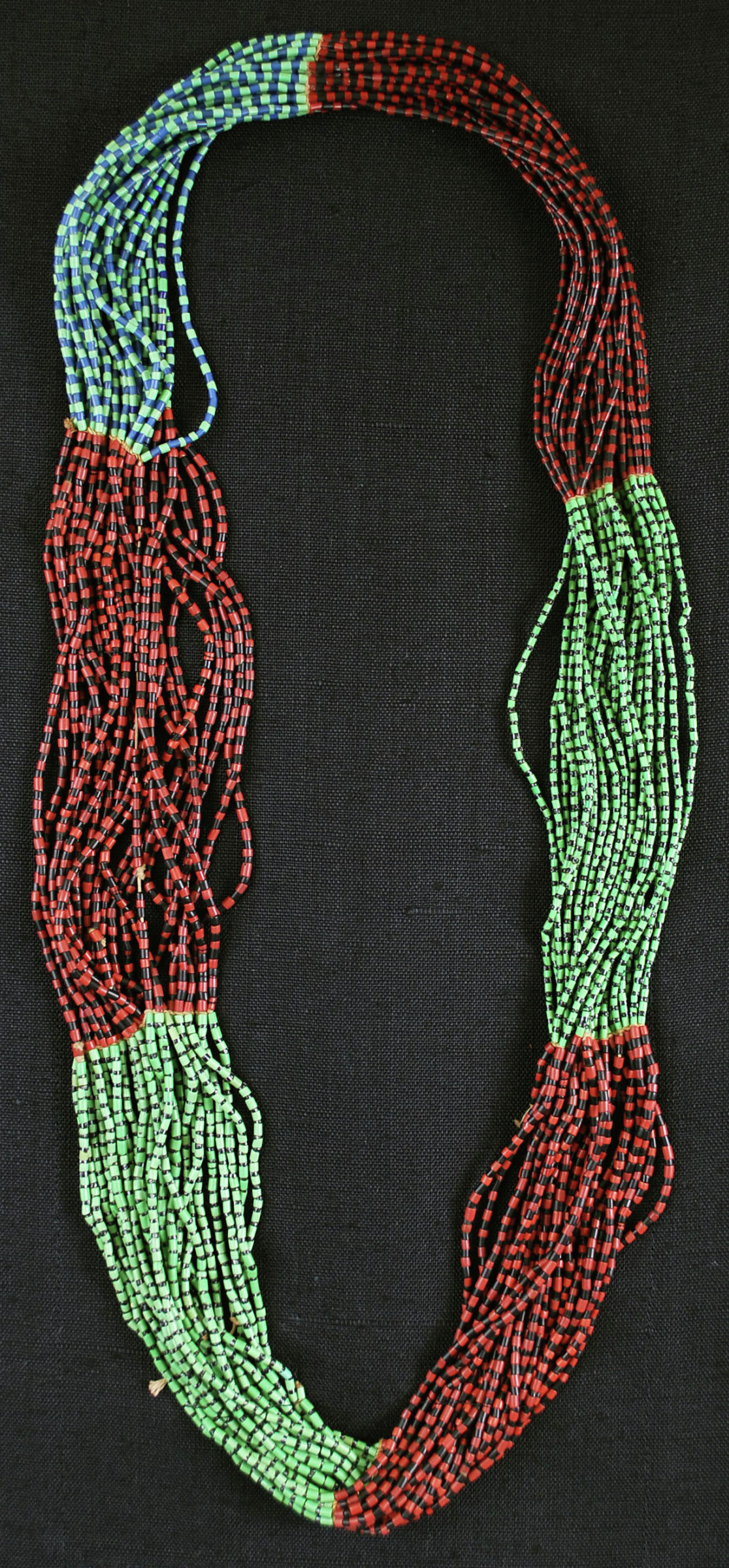 Necklace (Sehadla), Pedi people, South Africa, African, glass bead; thread