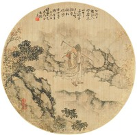 Herb Gatherer, Zheng Ji, ink and color on silk