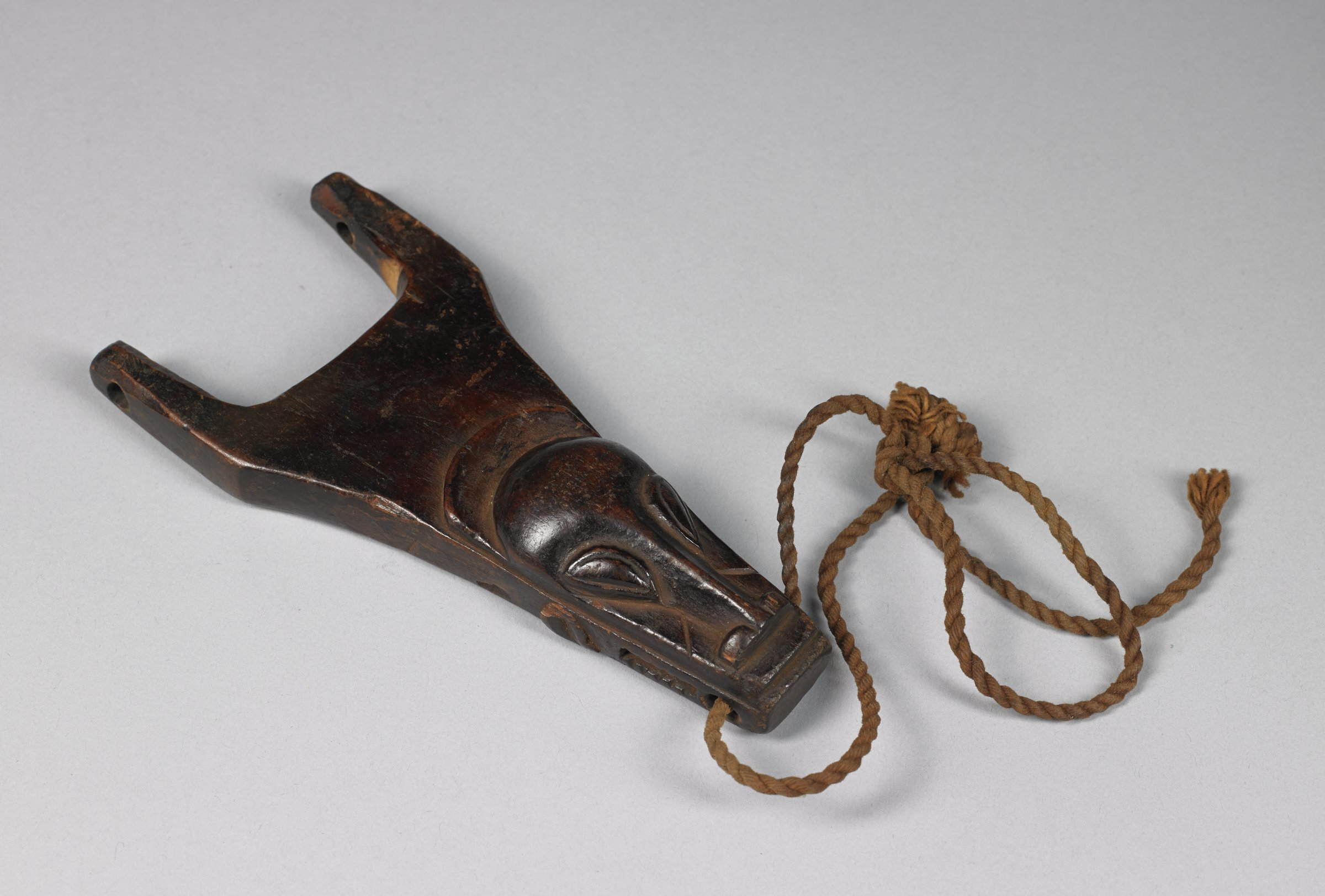 Heddle Pulley, Baule people, Côte d'Ivoire, African, wood and string