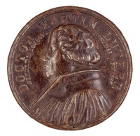 Obverse: Bust in profile left. Reverse: The Luther Monument in Wittenberg.