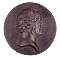 Obverse: Head in profile right. Reverse: Eagle with laurel branch.