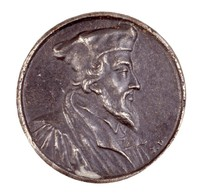 Obverse: Bust in profile right. Reverse with inscription.