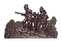 Hunters with Dog, Buderus Foundry, cast iron