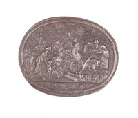 Pyrrhus Presented to Glaucias, Royal Prussian Iron Foundry, Gleiwitz, After a model by Wedgwood, After a gem by Charles Brown, cast iron