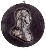 Bust in profile right in Russian general's uniform with medals. This portrait was made in Paris during the spring of 1814, shortly before Posch returned to Berlin.