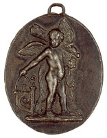 Infant Hercules, Royal Prussian Iron Foundries, cast iron