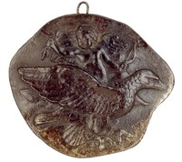 Cupid in Heaven on Jupiter's Eagle with the Thunderbolt, Royal Prussian Iron Foundries, cast iron