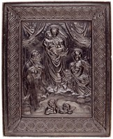 Plaque based on Raphael's painting of the Sistine Madonna