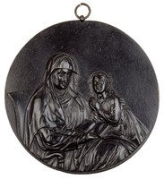St. Anne Teaching the Virgin Mary to Read, Mariazell foundry, cast iron