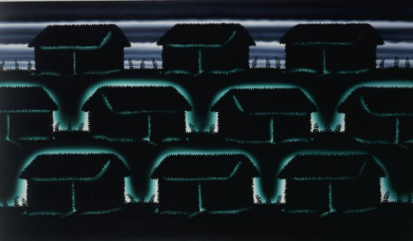 Times Beach, Roger Brown, oil on canvas