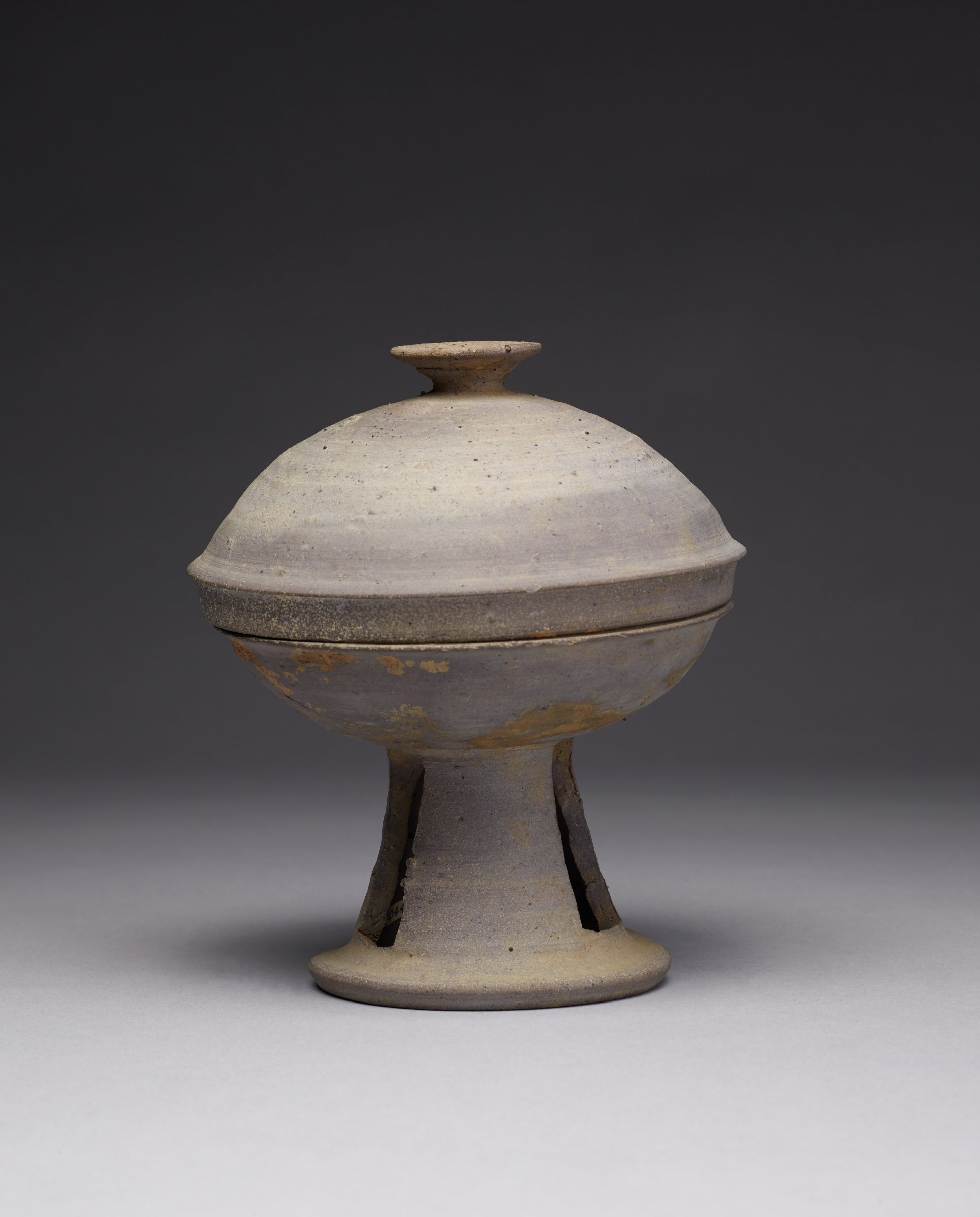 """Covered Pierced Pedestal GobletGood marriage. Thinly pottedBowl: 5 78/ Dia; H: 4""""Cover 5"""" DIA.; H: 2"""""""
