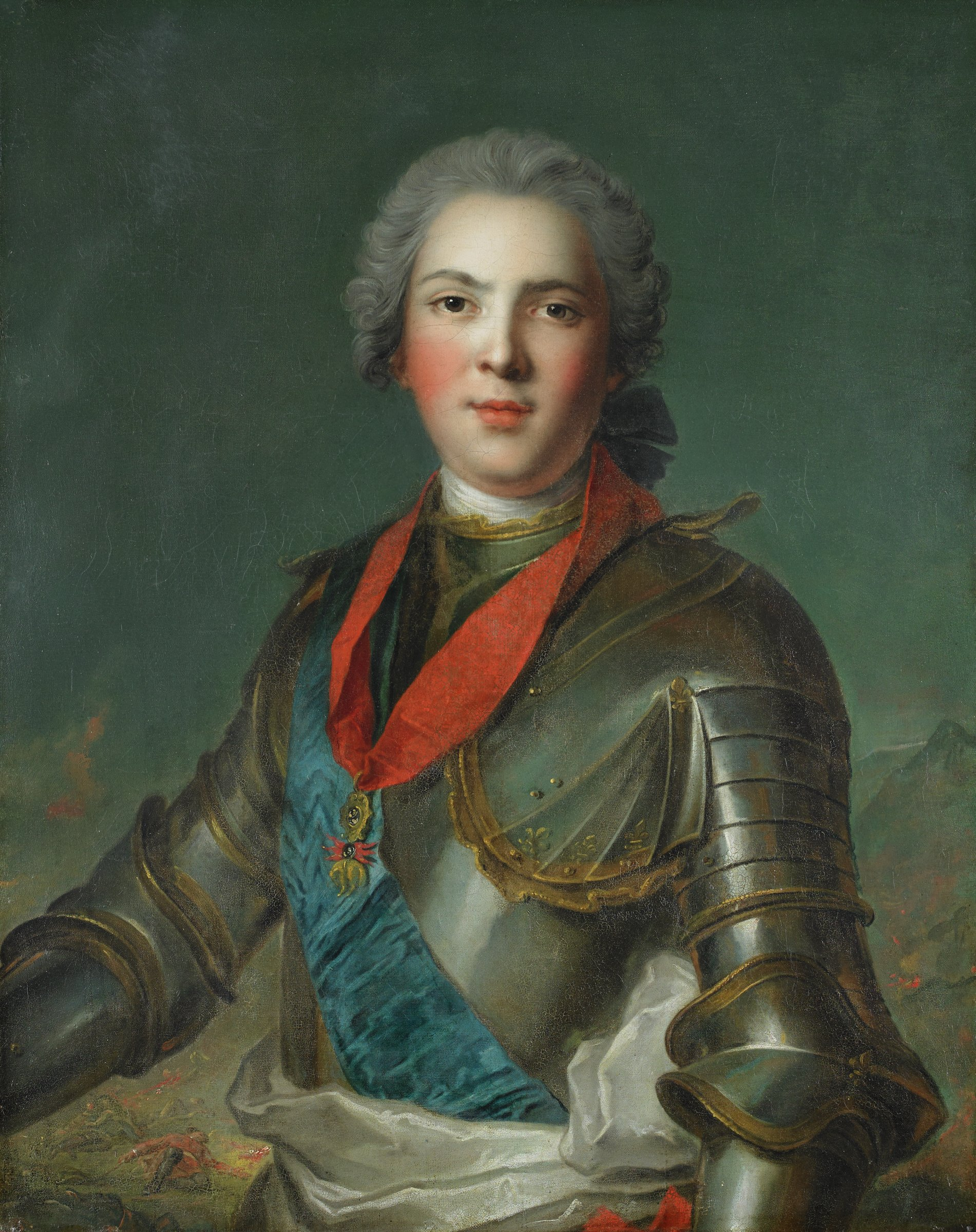 Louis, dauphin of France, son of Louis XV, After Jean-Marc Nattier, oil on canvas