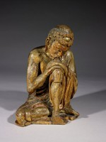 Sakyamuni seated in meditation right before his Enlightenment