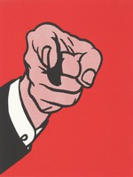 Finger Pointing, Roy Lichtenstein, Published by Experiments in Art and Technology, Inc., Printed at Styria Studio, Inc., screenprint