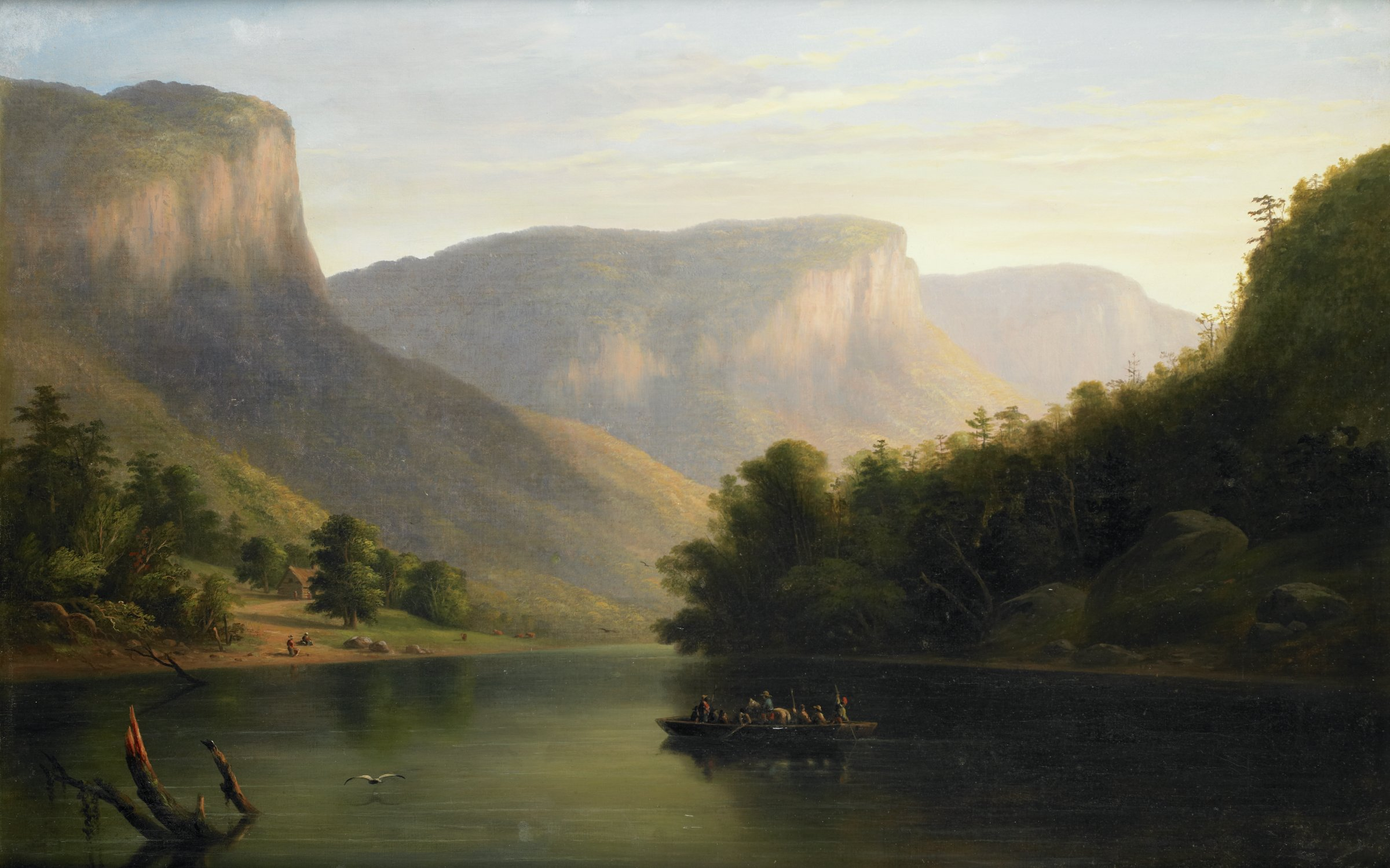 Tennessee River, Alabama, Anonymous artist, United States , Second quarter of the 19th century, oil on canvas