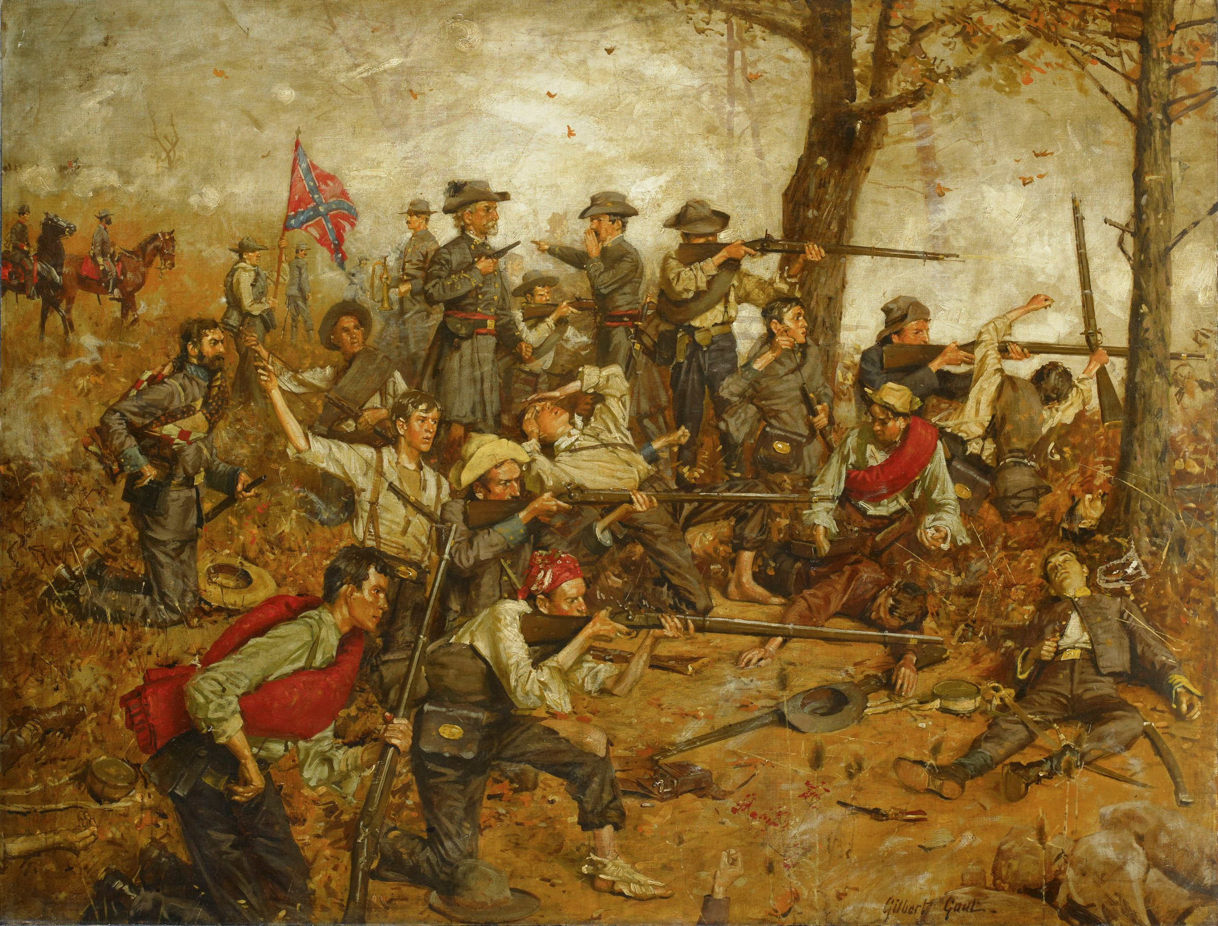Holding the Line at All Hazards, William Gilbert Gaul, oil on canvas